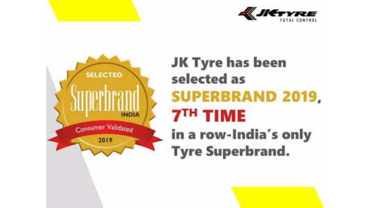 JK Tyre Achieves Superbrands Status in India
