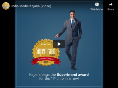 Kajaria Achieves Superbrands Status in India