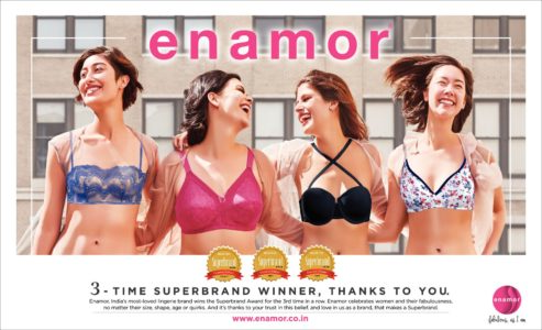 Enamor Achieves Superbrands Status in India
